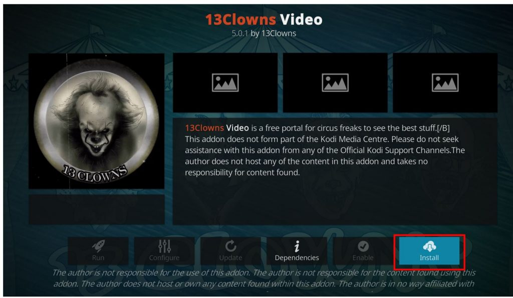 how to install 13 Clowns addon on kodi