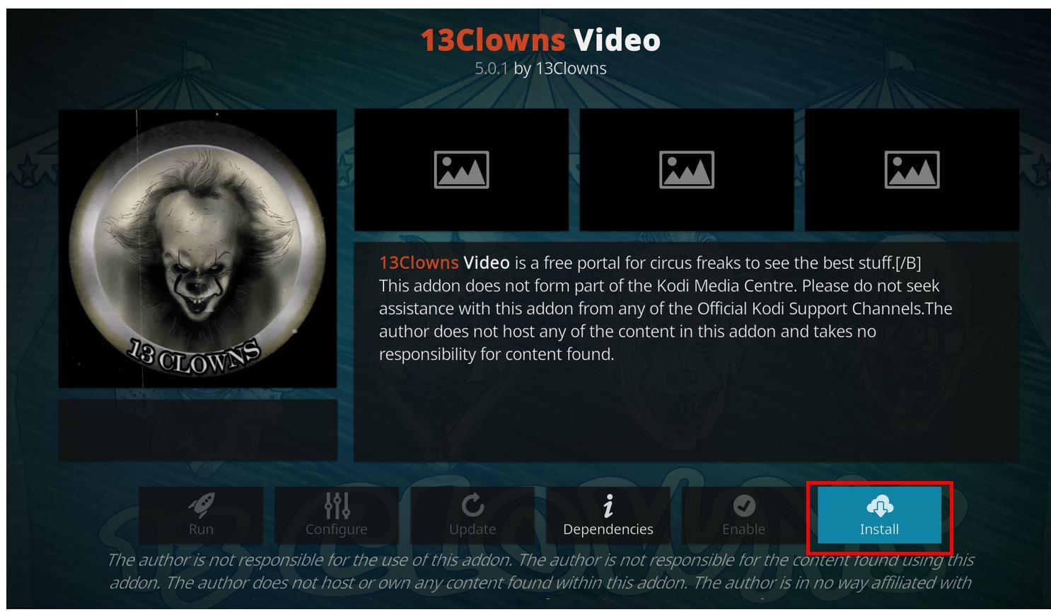 how to install 13 clowns kodi addon