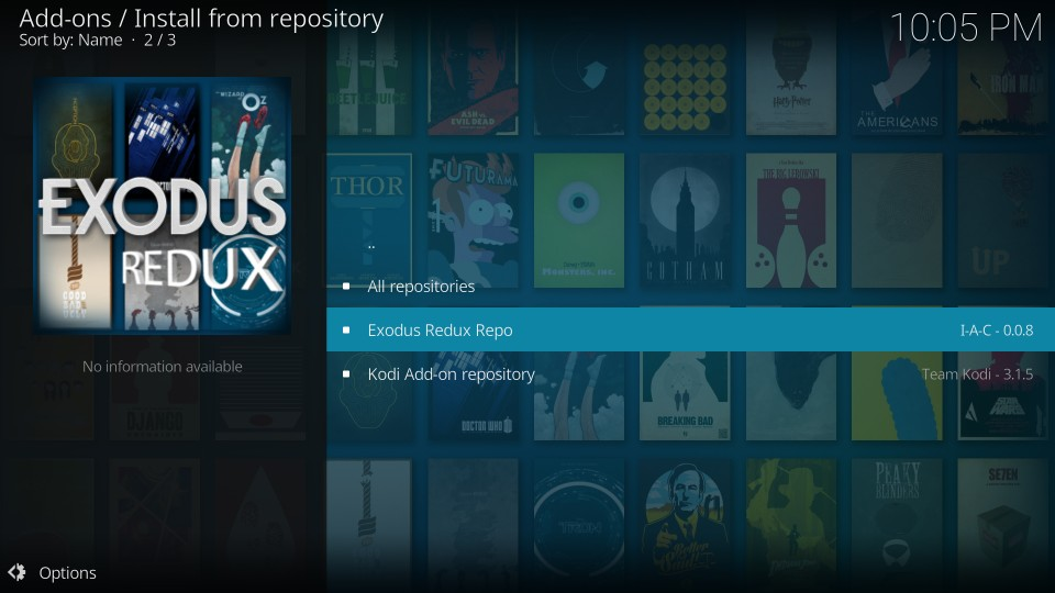 exodus redux on kodi guide