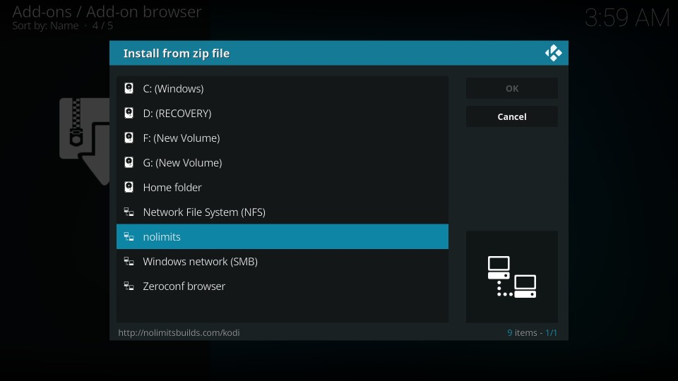 how to install no limits magic build on kodi