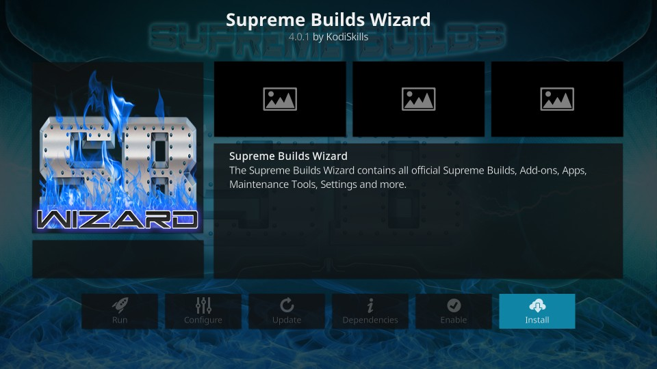 supreme builds wizard for titanium build