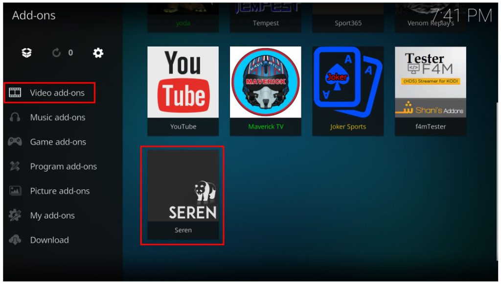 how to install and use seren kodi addon