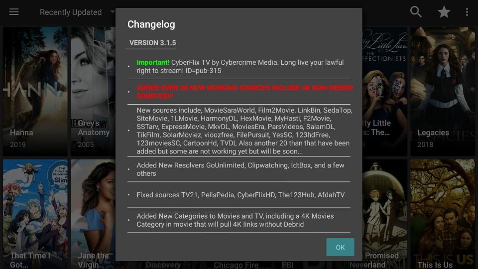 how to set up cyberflix tv firestick app