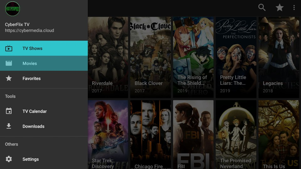 how to use cyberflix tv apk