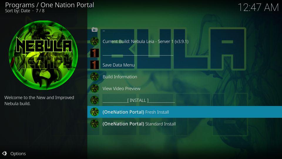 kodi builds one nation portal
