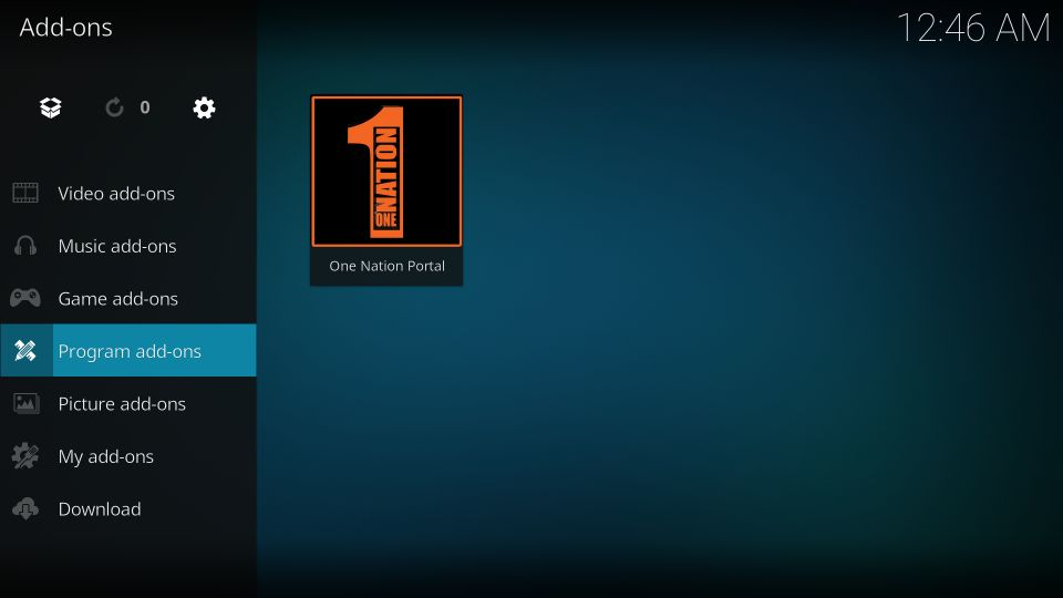 how to install onenation portal builds on kodi
