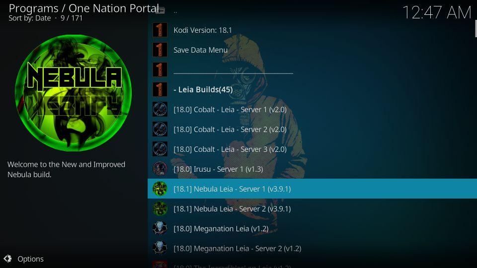 install onenation portal kodi builds