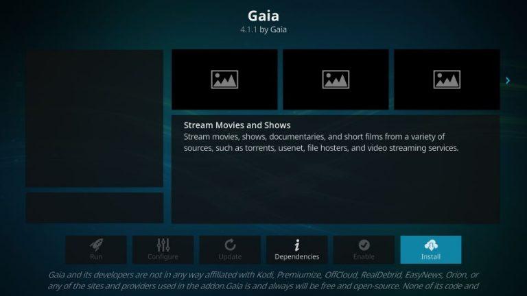 How to Install Gaia Kodi Addon