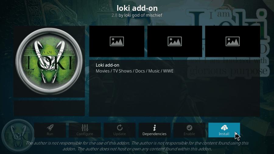 how to install loki kodi addon