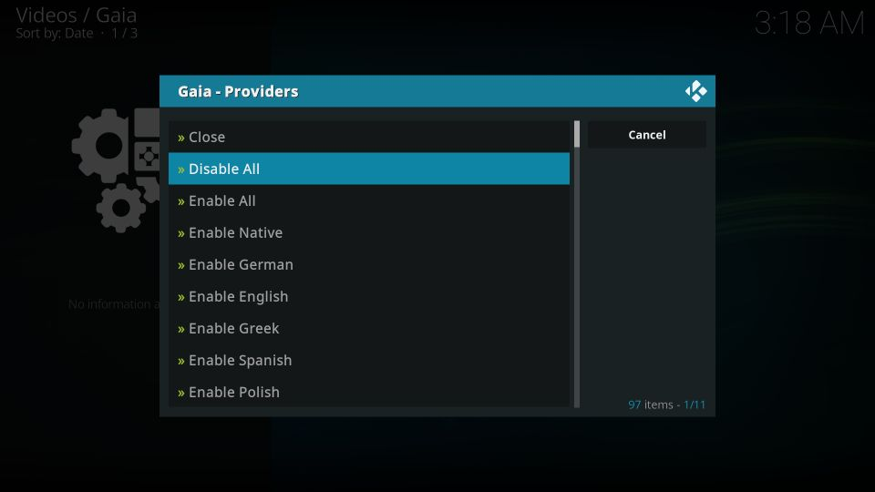 how to install gaia kodi addon