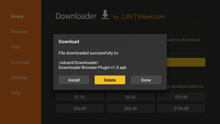downloader apk on android box