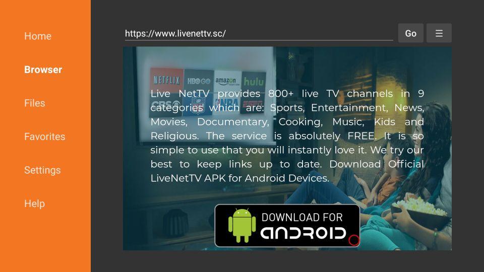 live nettv firestick