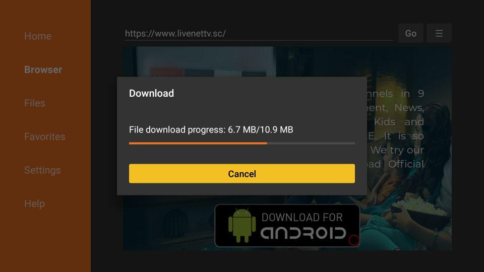 how to install firestick live nettv apk