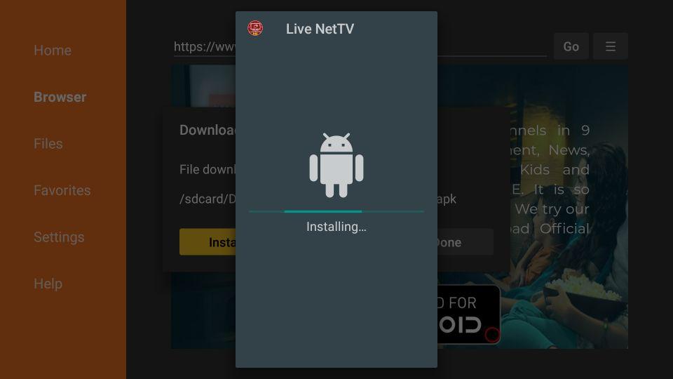 steps to install live nettv apk on firestick