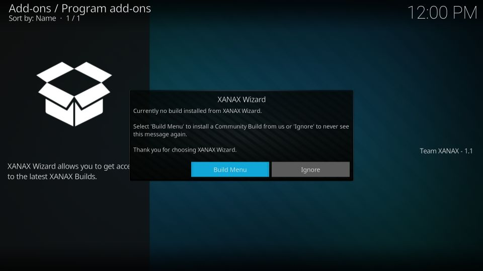 how to install xanax build on kodi