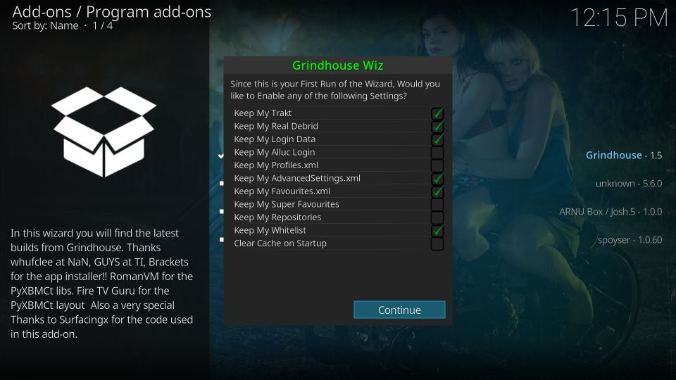 install kodi grindhouse builds