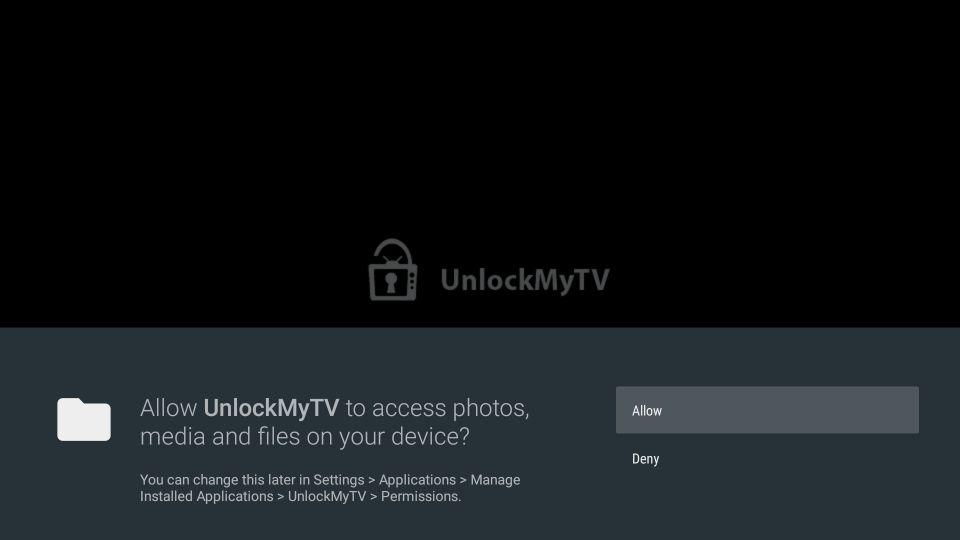 setting up unlockmytv app