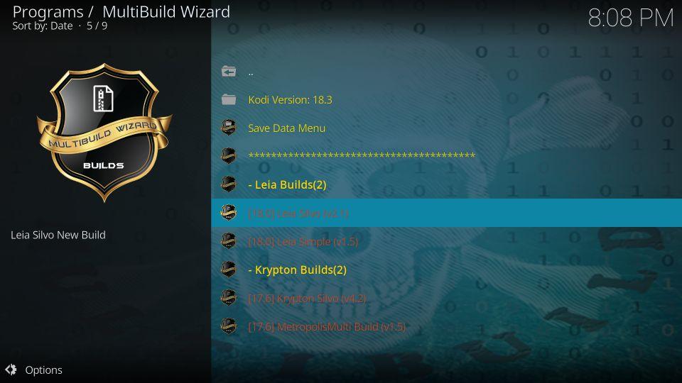 how to install silvo build on kodi