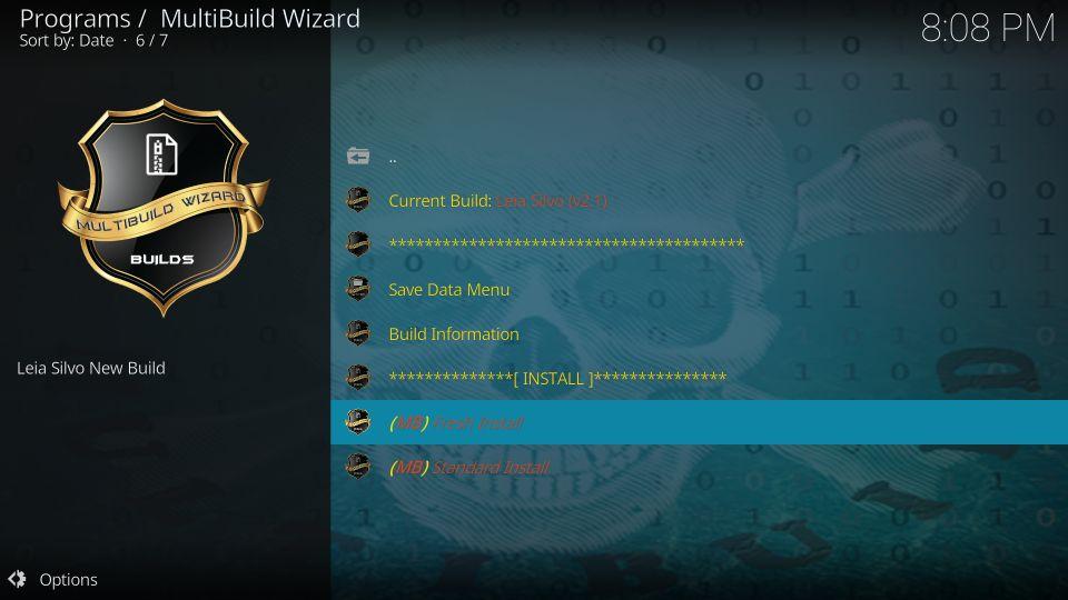 multibuild wizard silvo kodi build