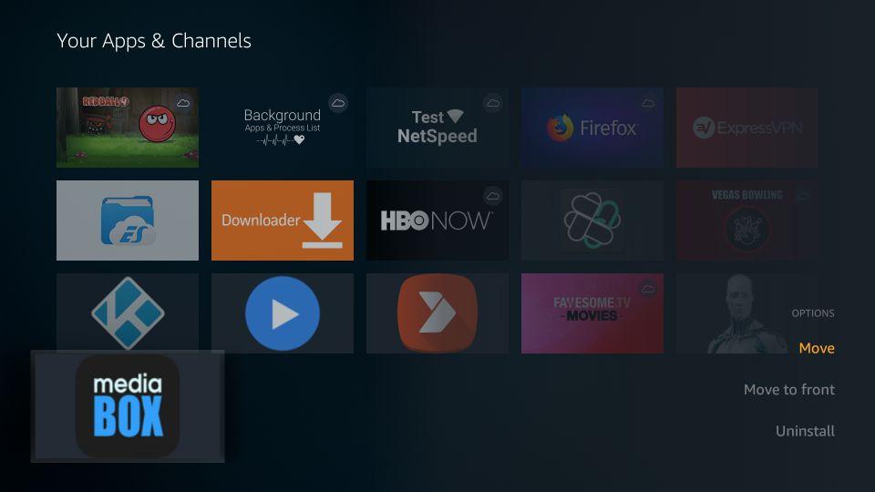 how to access mediabox hd app in apps & channels