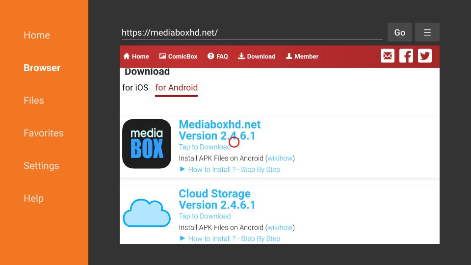 how to install mediabox hd on firestick