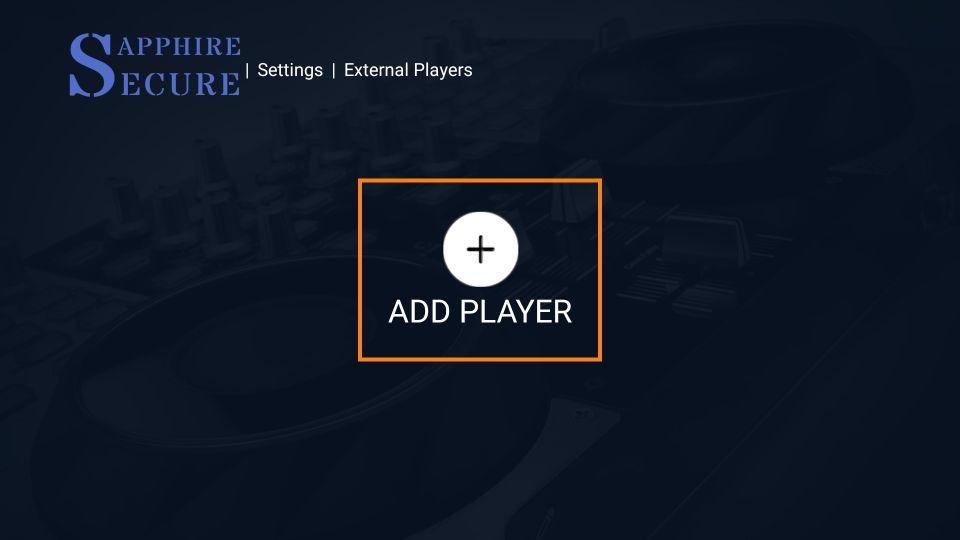 add external player