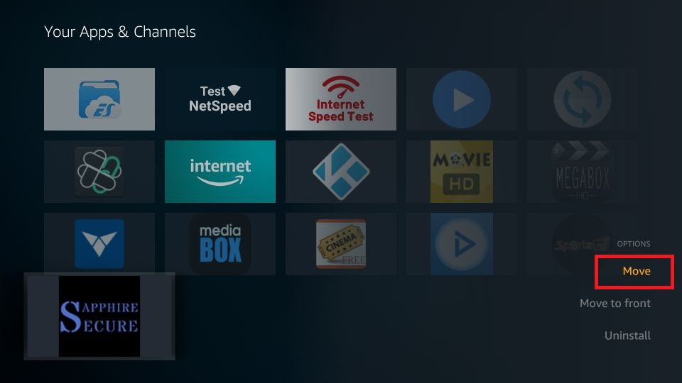 how to get sapphire secure iptv on amazon Firestick
