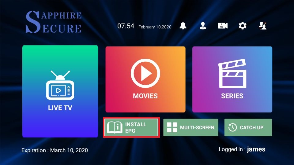 sapphire secure iptv features