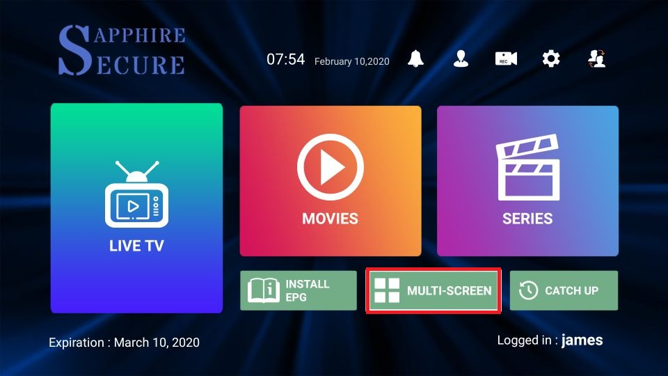 sapphire secure iptv guide