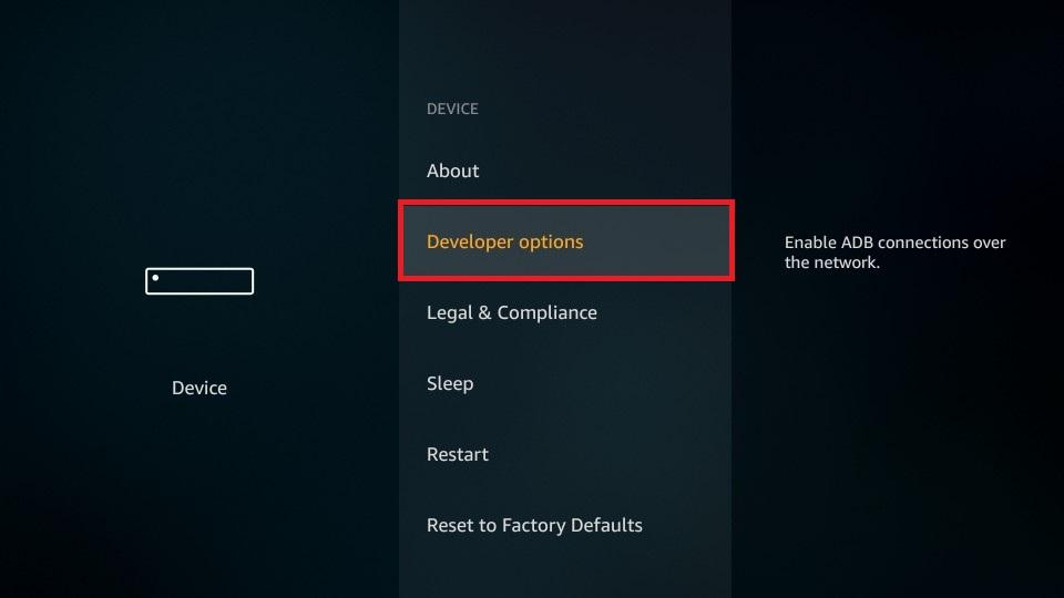 open developer options